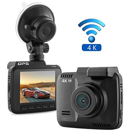 2 4 car dash cam 4k dash camera 150 degree wide view. Black Bedroom Furniture Sets. Home Design Ideas
