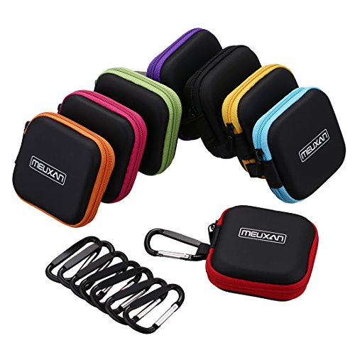 Earbuds with case sentry - earphone case with carabiner