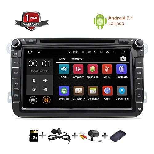 gps navigation for car stereo double din bluetooth touch screen 8 inch android 7 1 sat nav for. Black Bedroom Furniture Sets. Home Design Ideas