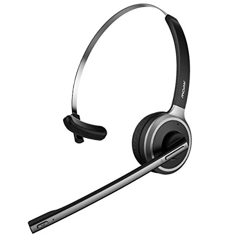 mpow pro 2 v4 1 bluetooth office headset truck driver headset wireless over head earpiece with. Black Bedroom Furniture Sets. Home Design Ideas
