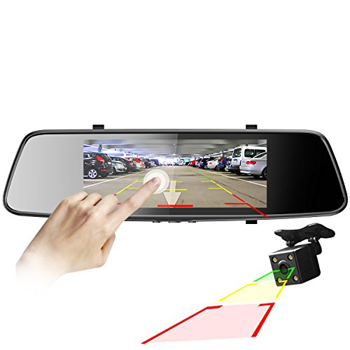 Pruveeo D700 7 Inch Touch Screen Dash Cam Front And Rear