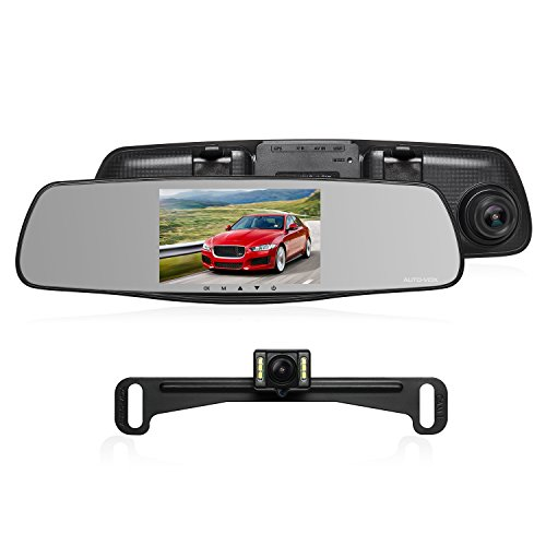 Auto Vox M6 Dash Cam Backup Camera Kit Hd Mirror Cam With