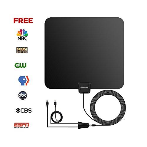 Tv Antenna Globmall 50 Mile Range Indoor Amplified Hdtv