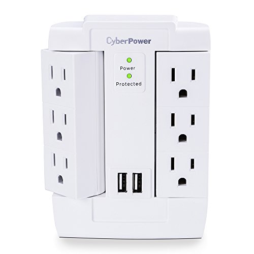 Apc 6 Outlet Wall Surge Protector 1080 Joules With Usb
