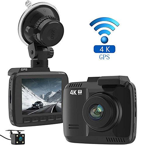 laydran dual lens 4k dash cam car dvr dashboard camera recorder with rear camera built in wifi. Black Bedroom Furniture Sets. Home Design Ideas