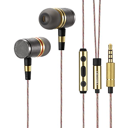 Earbuds with microphone and case - earphones with microphone powerful bass